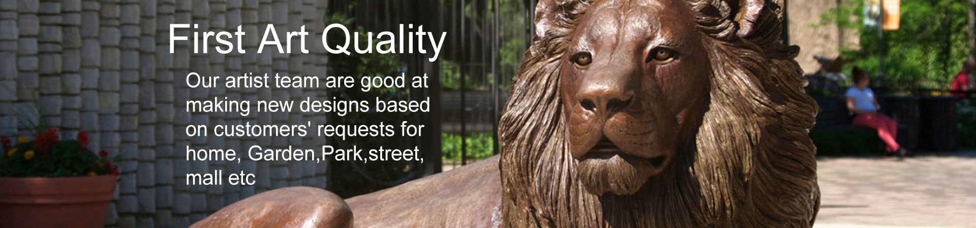 Bronze/Stone Lion Statue Outdoor