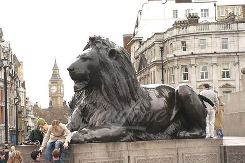China outdoor casting brass antique bronze lion statues for sale