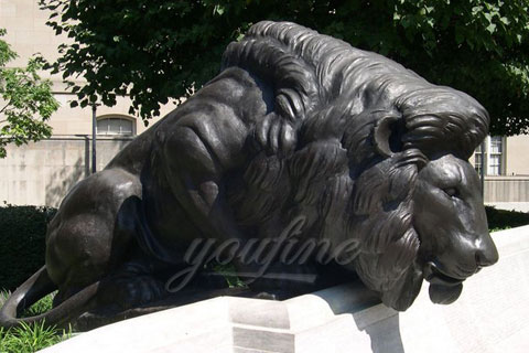 Customized modern garden sculpture bronze lion statues for decoration