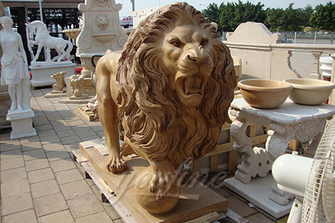 Classic Flying with Marble Lion Statues for sale