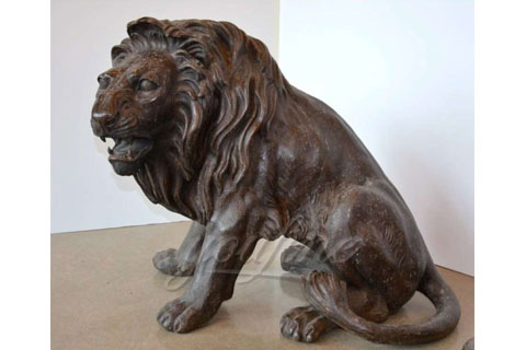 Hot sell life size bronze lion sculptures for decoration