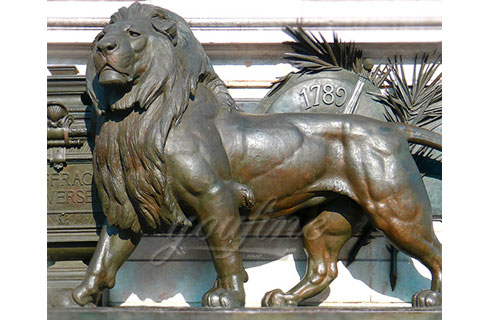 Large hot sale outdoor antique bronze lion sculptures for square
