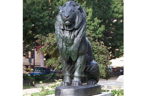 Modern outdoor decorative bronze lion statues for sale