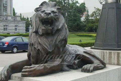 New design antique bronze lion garden statues for decoration