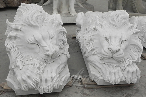 Sleeping marble lion statues animal sculptures for sale
