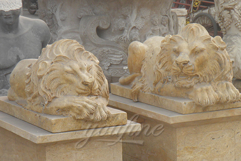 Sleeping marble lion statues outdoor for sale