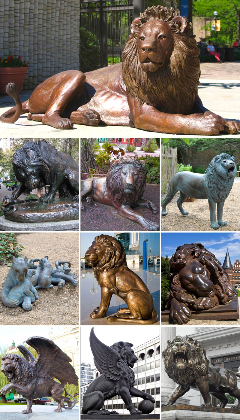 bronze lion statue for sale